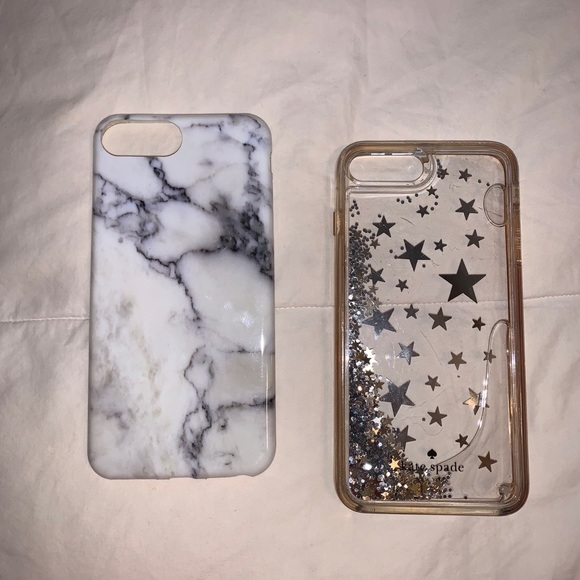 3 CASES Marble iPhone 8 plus case 2 Kate spade